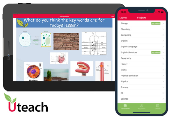 UTeach Lesson - web based online learning platform with native iOS and Android apps